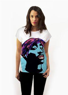 Handpainted tshirt inspired in 2pac #jossart- cool t-shirt