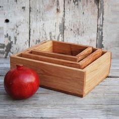 Nesting Reclaimed Oak Utility Boxes