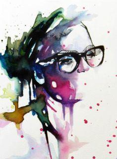 """Saatchi Online Artist Valentina De Chirico; Painting, """"NERD"""" #art buy my art before i'm dead"""