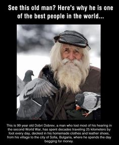 Funny pictures about Definitely one of the best people in the world. Oh, and cool pics about Definitely one of the best people in the world. Also, Definitely one of the best people in the world. Images Disney, Elderly Man, Homeless Man, Portraits, Faith In Humanity Restored, People Of The World, Old Men, World War Two, Good People