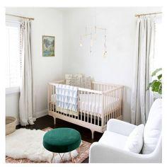Luxe neutral nursery.