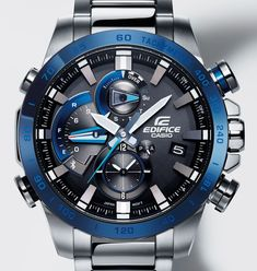 "The solar-powered Casio Edifice EQB800 is a motorsports-inspired piece with ""Time Attack Recording"" for tracking lap times, as well as smartphone connectivity for enhanced timekeeping and convenience."