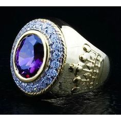 When sitting on your finger, our staggering Christian Crown Bishop Ring will command respect and attention. Made of silver with gold plating and amethyst inlaid Silver Skull Ring, Gold And Silver Rings, Silver Man, Yellow Gold Rings, Sterling Silver Rings, Skull Rings, Mens Rings For Sale, Rings For Men, Amethyst Stone
