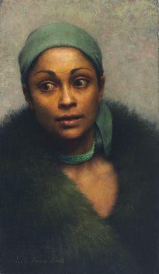 Portrait in Greens by Louise Fenne