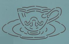 """Fancy Teacup 5.5"""" - The Stencil Company"""