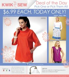 Club BMV's special price is $5.94 instead of the $6.99 for todays special for 5/18/2012.... www.clubBMV.com  (Butterick, McCalls, Vogue, etc. pattern companies)