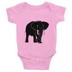 Elephant Infant short sleeve one-piece