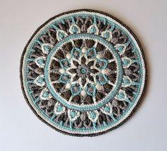 Ravelry: Mint Coffee Mandala Pot holder pattern by Tatsiana Kupryianchyk