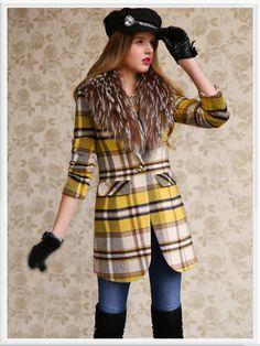 Morpheus Boutique  - Yellow Plaid Long Sleeve Designer Jacket Coat, CA$143.57 (http://www.morpheusboutique.com/yellow-plaid-long-sleeve-designer-jacket-coat/)