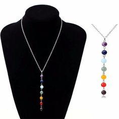 Feel the energy of your Chakras as this necklace helps them restore to balance while wearing it. Tags: yoga, mala beads, charm bracelets, yoga bracelets, chakra jewelry, chakra beads, chakra healing, chakra, chakra balancing, chakra stones