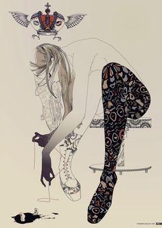 Fashion illustration by Yana Moskaluk