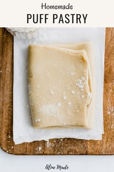 Homemade Rough Puff Pastry An easy recipe for homemade vegan rough puff pastry! Flour, butter, salt, and water, that's all you need to make this rough puff pastry recipe! Suitable to use for savory or sweet recipes calling for puff pastry! Puff Pastry Recipes Savory, Easy Puff Pastry Recipe, Pastry Dough Recipe, Puff Pastry Dough, Homemade Pastries, Pastries Recipes, Easy Puff Pastry Desserts, Recipes Using Puff Pastry, Best Pastry Recipe
