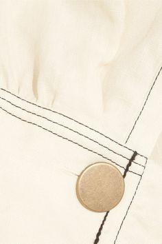 Sonia Rykiel - Ruffled Linen Midi Dress - Cream