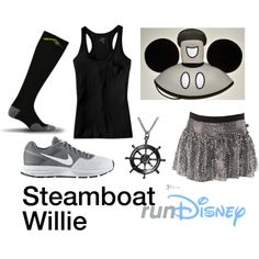 """Disney Steamboat Willie Running Costume"" by mamaspartydress on Polyvore"