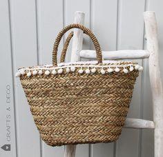 Sommer - Ibiza Tasche / Korbtasche / Standtasche / Bag - ein Designerstück von CraftsandDeco bei DaWanda