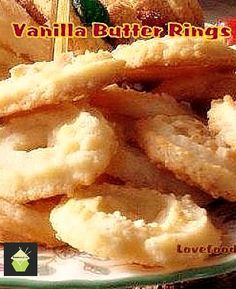 Vanilla Butter Ring Cookies. These just melt in your mouth! #cookies #vanilla #butter