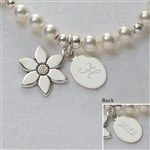 Personalized Flower Girl Bracelet with Initial Monogram