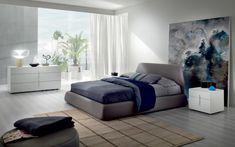 cuadro precioso en el dormitorio moderno