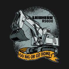 Shop Excavator Liebherr liebherr t-shirts designed by damnoverload as well as other liebherr merchandise at TeePublic. Caterpillar Inc, Caterpillar Equipment, Mining Equipment, Heavy Equipment, Orca Tattoo, Car Tattoos, Raiders, Book Wallpaper, Art Deco Posters
