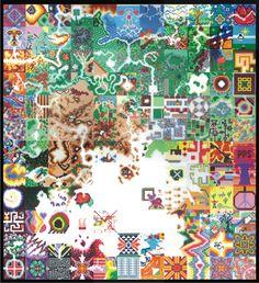 huge hama bead artwork