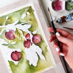 Watercolor process 🌿 #art #открытка #sketch #picture #рисуюкаждыйдень #drawing  #artist  #illustration #love #подарок #акварель #художник #иллюстрация #ручнаяработа #дизайн #скетч #handmade #рисунок #watercolor #брошь #любовь