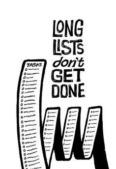 rework the short list and do one at a time