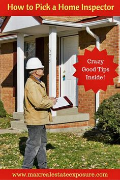 See how to select a home inspector. Picking a home inspector is an important consideration when buying a home. Don't choose the wrong inspector! http://www.maxrealestateexposure.com/how-to-select-home-inspector/