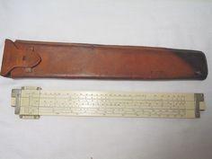 Vintage Keuffel & Esser Slide Rule Model 4092-3 Original Leather Case