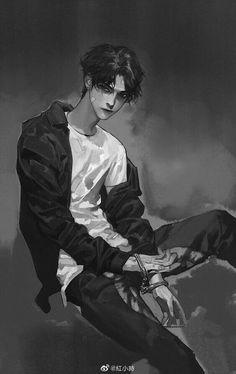 Dark Anime Guys, Cool Anime Guys, Handsome Anime Guys, Cute Anime Boy, Anime Art Girl, Manga Art, Aesthetic Art, Aesthetic Anime, Wallpaper Animé