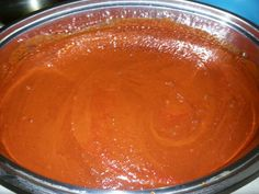 Red Homemade hot sause.