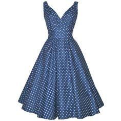 Vintage V-Neck Sleeveless Polka Dot Bow Decorate Women's Dress
