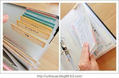 ■領収書や明細の保管   家づくり手帖 Binder Organization, Studyblr, Blog Entry, Diy And Crafts, Office Supplies, Stationery, Notebook, Money, Lifestyle