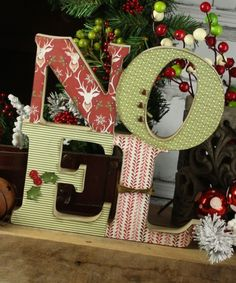 Wood Noel Letters | Christmas Crafts | Wood words