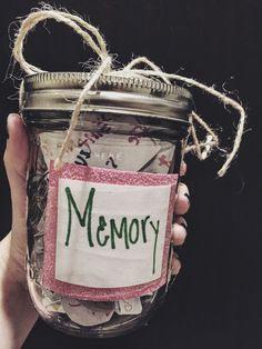 Memory Jar Good for best friend gifts More