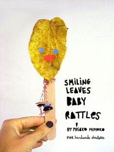 DIY Leaf Baby Rattles tutorial by misakomimoko #craftproject #leaf, #autumn #kisd #activity #stickers #popsicle #babyrattle