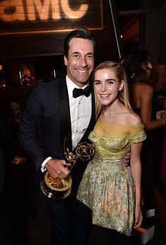 Kiernan Shipka and  Jon Hamm - Emmy 2015