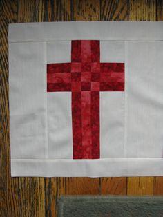 Risultato immagine per Free Christian Quilt Patterns Cross Patterns, Quilt Block Patterns, Pattern Blocks, Quilt Blocks, Quilting Projects, Quilting Designs, Quilting Ideas, Sewing Projects, Quilt Design
