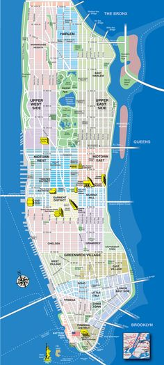 New York City Map Manhattan Manhattan New York, Lower Manhattan, Ny Map, New York City Map, City Maps, Ellis Island, New York Travel, Travel Usa, Plan New York
