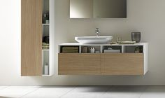 DuraStyle from Duravit is the latest collection designed by Matteo Thun.  A key theme for the range is the integration of open and closed storage space. Nice!