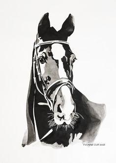 Artwork in black ink, 50 x 70 cm