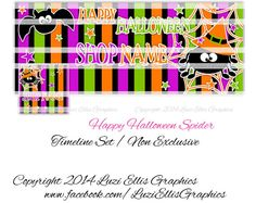 Shop for on Etsy, the place to express your creativity through the buying and selling of handmade and vintage goods. Halloween Spider, Happy Halloween, Printed Ribbon, Halloween Cupcakes, Facebook Timeline, Fb Covers, Collage Sheet, Custom Design, My Etsy Shop