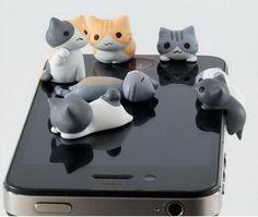 30 pcs 3D Mignon Chat en forme Écouteur jack bouchon anti poussière pour iPhone, mobile téléphone dans Bouchon anti-poussière de Téléphones et télécommunications sur AliExpress.com | Alibaba Group