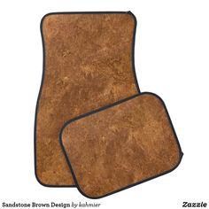 Sandstone Brown Design Car Mat