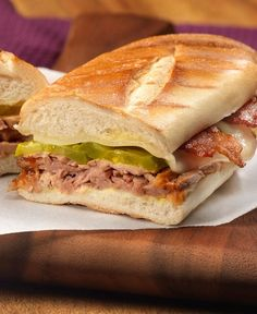 Tropical Panini – Hawaiian Pork Slow Cooker Sauce is the secret to this delicious slow cooker sandwich recipe. Try it out for dinner! We love it!
