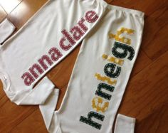 Hand Appliqued Personalized Game Day Infant Baby Gown Your Team's Colors - Alabama, Auburn, ANY SPORTS Team