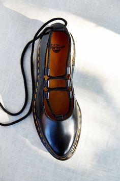 Dr. Martens Elphie Lace-Up Ballet Shoe | Urban Outfitters: http://go.wantering.com/2e8d7c?utm_source=winmarklet&utm_medium=70837X1519470