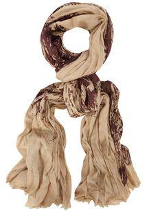 camel owl print scarf $19