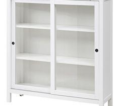 HEMNES witryna - biała bejca - 120x130 cm / IKEA