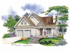 Eplans Bungalow House Plan - Great Room with Fireplace - 1307 Square Feet and 3 Bedrooms from Eplans - House Plan Code HWEPL07129