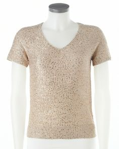 Knit top with #sequins #SteinMart